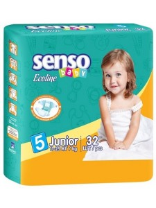 "Подгузники ""Senso Baby Ecoline"" junior"